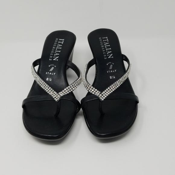 Italian Shoemakers Rhinestone Sandal